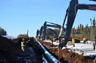Michels constructed a 36.2 km (22.5-mile), 30-inch pipeline for the Thornbury section of the Liege Lateral Loop 2.