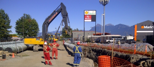 Michels successfully replaced the Chilliwack Pipeline in the Chilliwack Mall section.