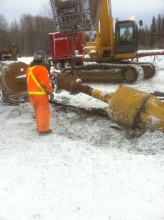 Michels installed a new 500 metre crossing of NPS 30 pipe beneath the river using horizontal drilling technology (HDD).